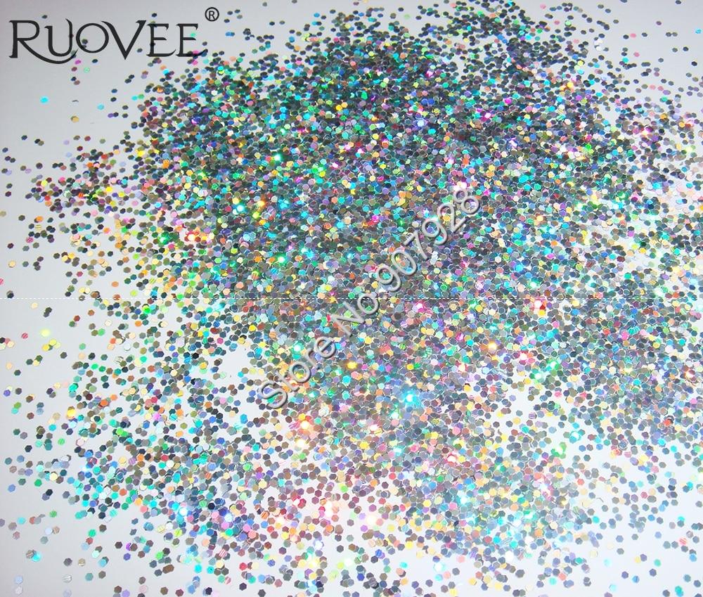 50 г/пакет Блестки для ногтей Серебряная Ослепительная шестиугольная палитра блесток форма для DIY украшения ногтей и блестки для ногтей
