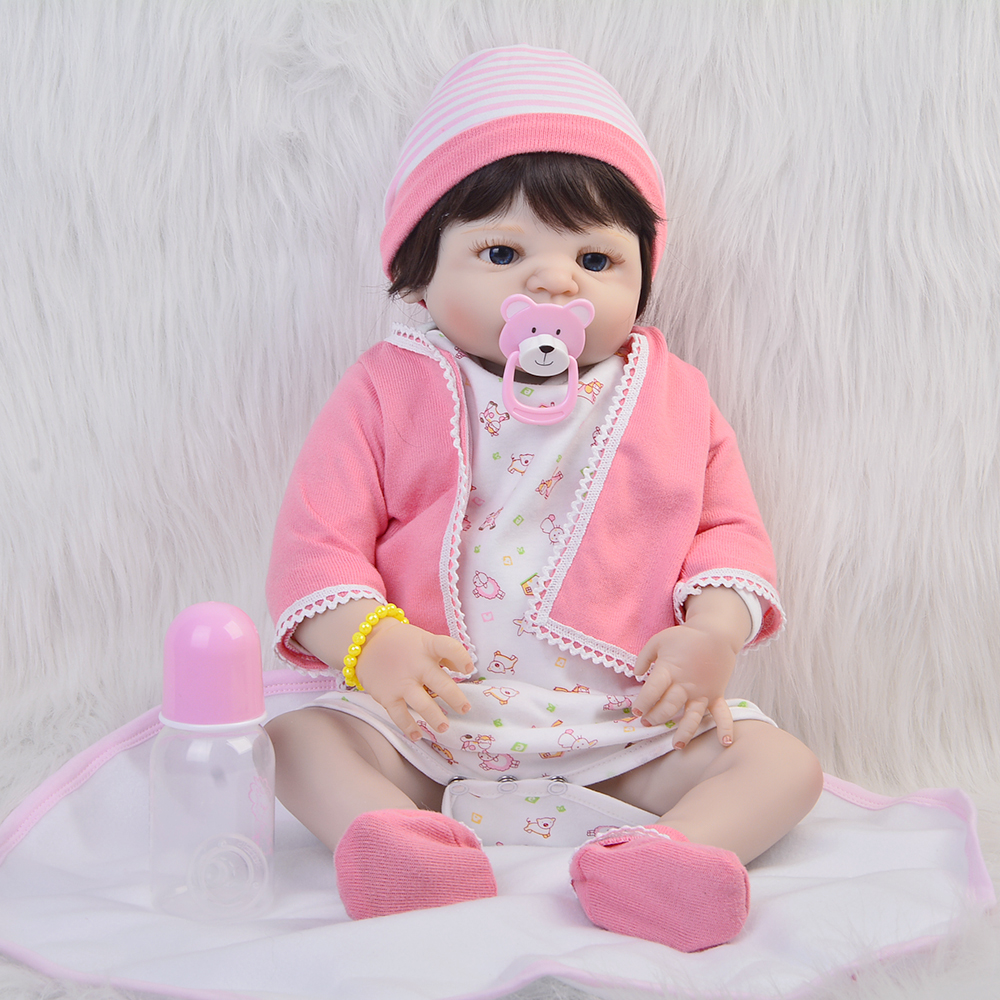 US Handmade Lifelike Reborn Girls Doll Full Body Vinyl Silicone Baby W//Clothes