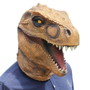 Image 2 - Realistic T Rex Dinosaur Mask Jurassic World Cosplay Mask Adults Animal Costume Party Mask Supplies