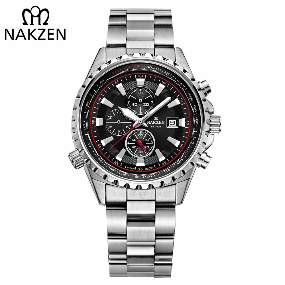 Men Fashion Sport Quartz Clock 10M Waterproof Mens Watches Top Brand Luxury Full Steel Business Watch For Male Relogio Masculino недорго, оригинальная цена