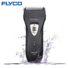 FLYCO Wet/Dry Waterproof Reciprocating Twin Blade Rechargeable Men's Electric Shaver Razor With Pop-up Trimmer Face Care FS622