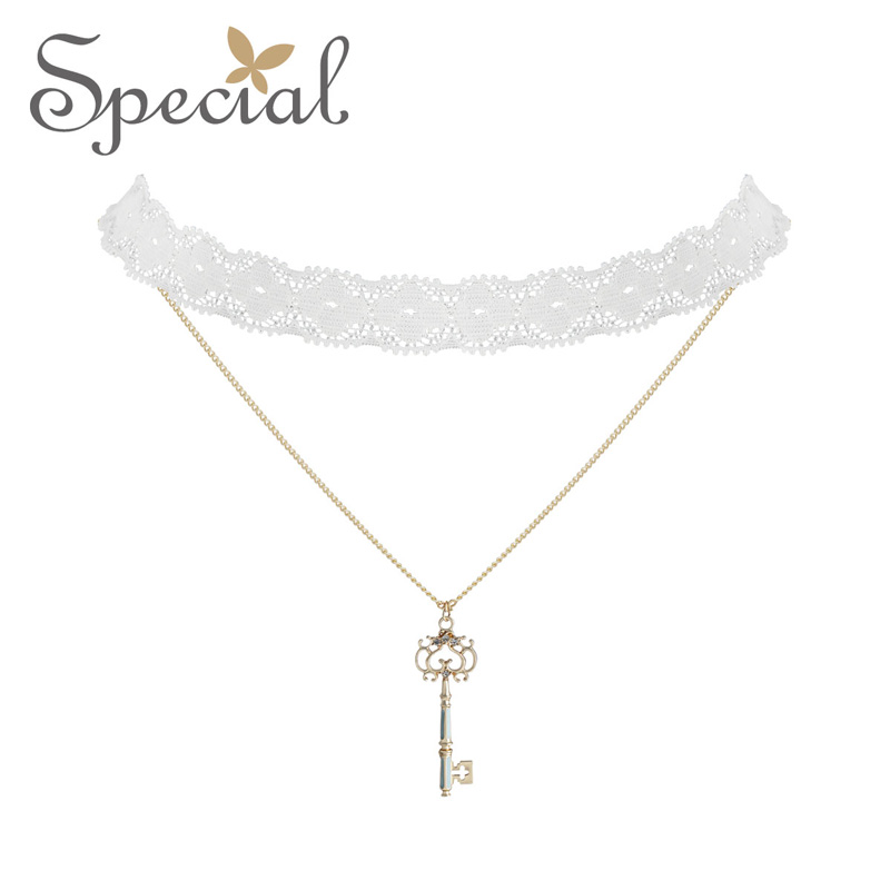 The SPECIAL New Fashion euramerican necklace neck chain choker lace temperament multi layer necklace for women S2037N in Pendant Necklaces from Jewelry Accessories