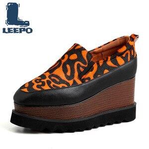 LEEPO Women Flat Platform Loaf