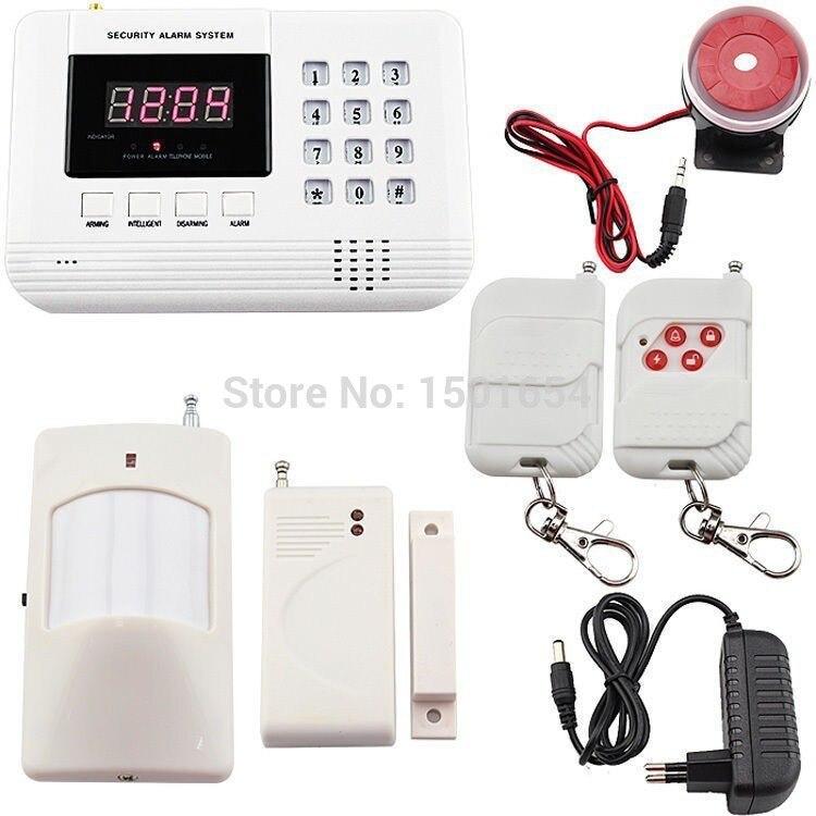 Système d'alarme anglais anti-intrusion gsm système d'alarme LCD sans fil GSM/PSTN/SMS/appel automatique système d'alarme de sécurité à domicile