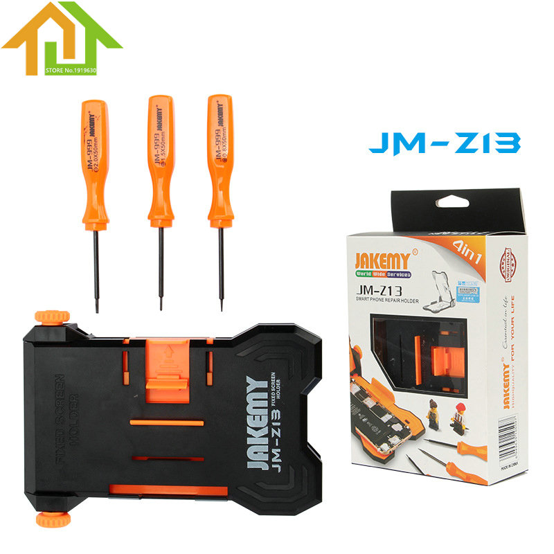 JAKEMY JM-Z13 4-in-1 Suitable 4.5~ 5.5 inch Phone Screen Adjustable Fixed Screen Holder with Different Models Screwdrivers