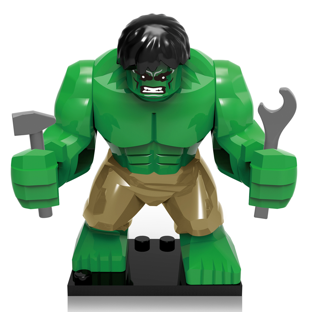 SingleSale The Incredible Hulk Bruce Banner Minifigures Marvel Super Heroes The Avengers Assemble Building Blocks Kids Toys