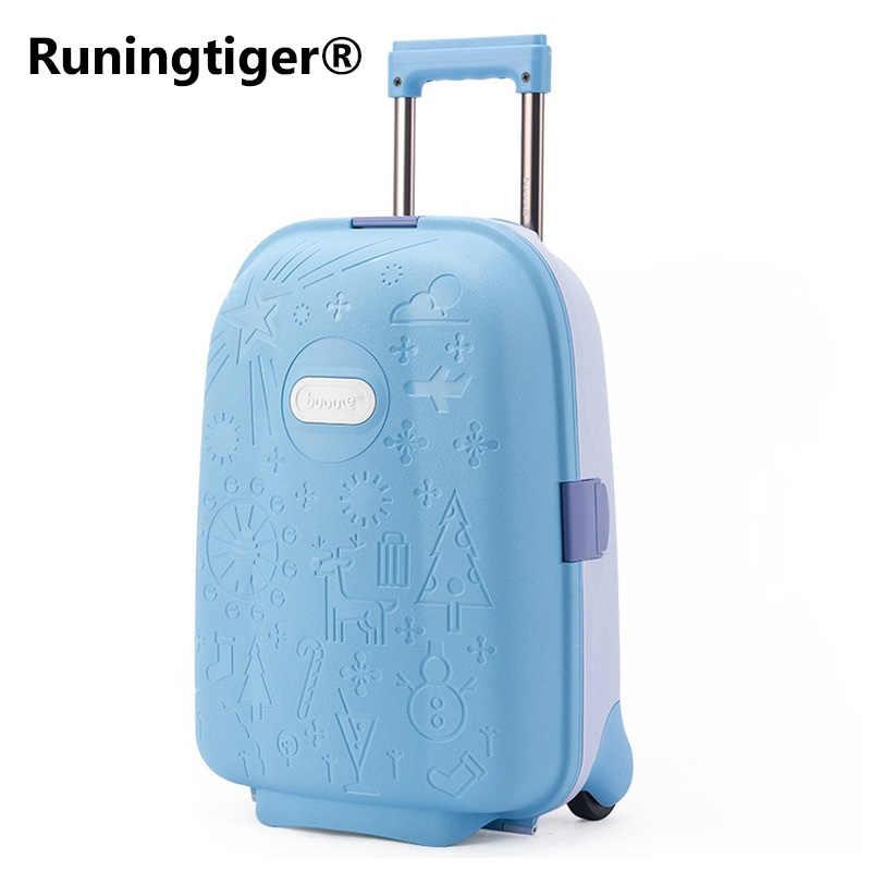 Cute Cartoon Children Rolling Luggage Kid high-grade Suitcase Wheels Trolley  Case Cabin Trunk School 3d181fece2