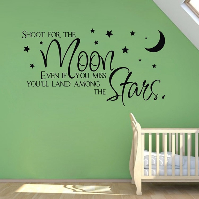 Sale On Ebay Shoot For The Moonstars Quote Wholesale Wall Stickers