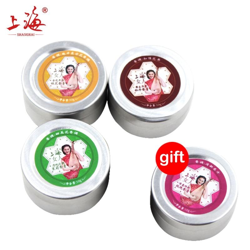 Acheter 3 Obtenir 1 Cadeau SHANGHAI BEAUTÉ pivoine et Jasmin et Osmanthus & rose parfums et parfums pour femmes déodorant soins de la peau baume Solide