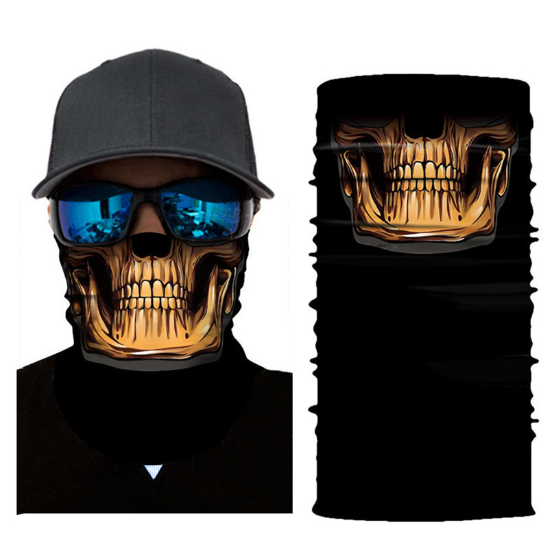 Skull Face Mask Scarf Ski Mask Ghost Balaclava Masks Cycling Head Scarf Neck Halloween Party Face Mask Wholesale 30ST02 (6)