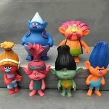 6 Pcs/lot 2016 Nouveau Elf Trolls Anna Justin Russell Gwen Elfes Troll Poupée PVC Modèle Jouets Enfants Cadeau