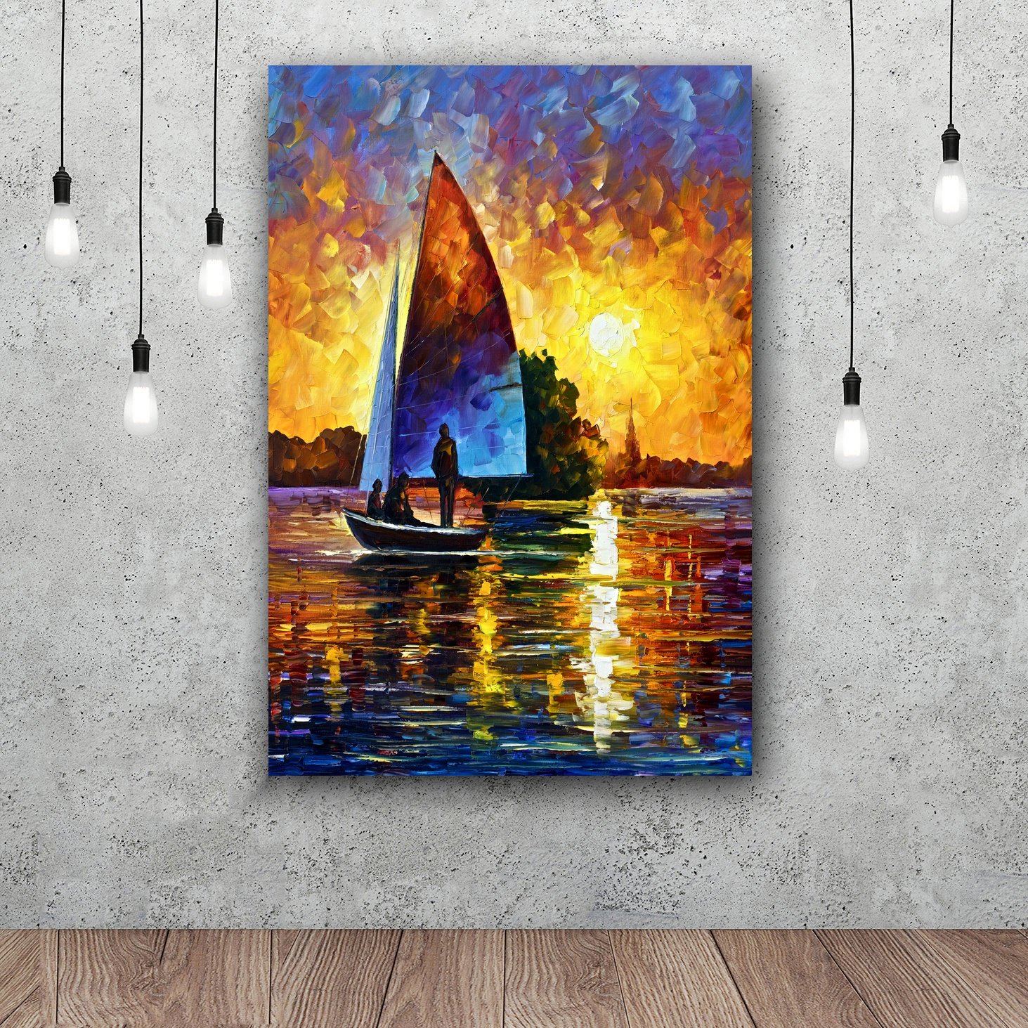 Cityscape Seascape Landscape Oil Painting Print on Canvas Wall Art poster Home Decor  Room Office Paintings