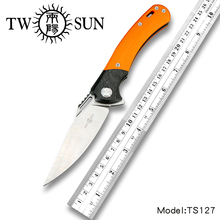 TWOSUN 12C27 blade folding knife Pocket Knife tactical knife hunting Outdoor camping tool EDC ball Bearings Fast Open G10 TS127 цены