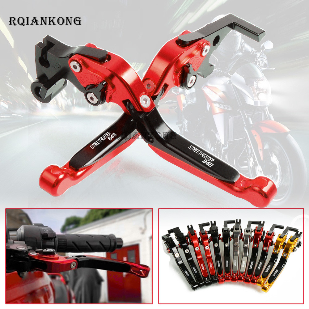 CNC Aluminum Motorcycle Adjustable Foldable Brake Clutch Levers For Ducati STREET FIGHTER 848 2012 2015 Moto