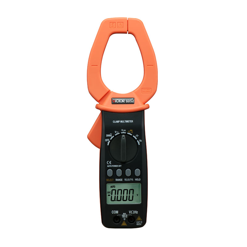 Digital Clamp Meter Clamp type multi-purpose table multimeter AC 2000A VICTOR 6052 VC6052 2pcs lot digital network multi meter