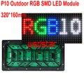 P10 Открытый RGB СВЕТОДИОДНЫЙ Модуль 320*160 мм 32*16 пикселей для полного светодиодный дисплей Прокрутки сообщение знак СИД 3535 SMD LED дисплей