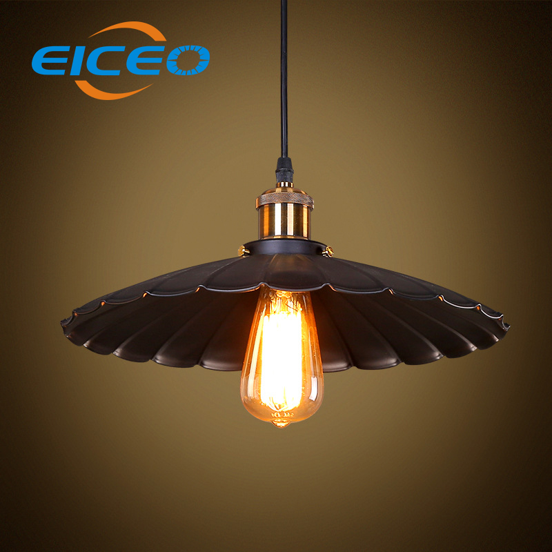 ФОТО EICEOHanglamp industrieel Cafe Rural Countryside Hardware Lotus Leaf Chandelier LED Pendant Lamp Hanging Lighting tiffany lamp