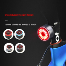 Bicycle light Smart Brake Mode Bike Light USB Rechargeable bike led flash light Rear lamp Charging Cycling Taillight raw hem denim overalls