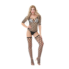 Women's Fishnet Bodysuit and Stockings Set