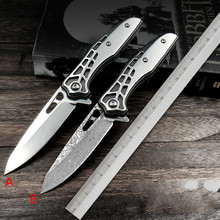 D2 steel Damascus outdoor folding knife with self-defense knife baby food knife collection spring steel knife free shipping browning damascus pocket knife steel outdoor mini knife