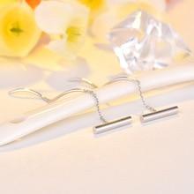 2020 Korean Fashion Geometric Earrings Simple Ear Line Water Wave S Type Tassel Earring Jewelry Gift Romantic Ornaments