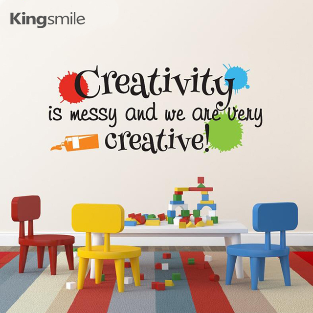 Beau Playroom Wall Sticker Decals Creativity Is Messy And We Are Very Creative  With Paint Splats Masterpieces