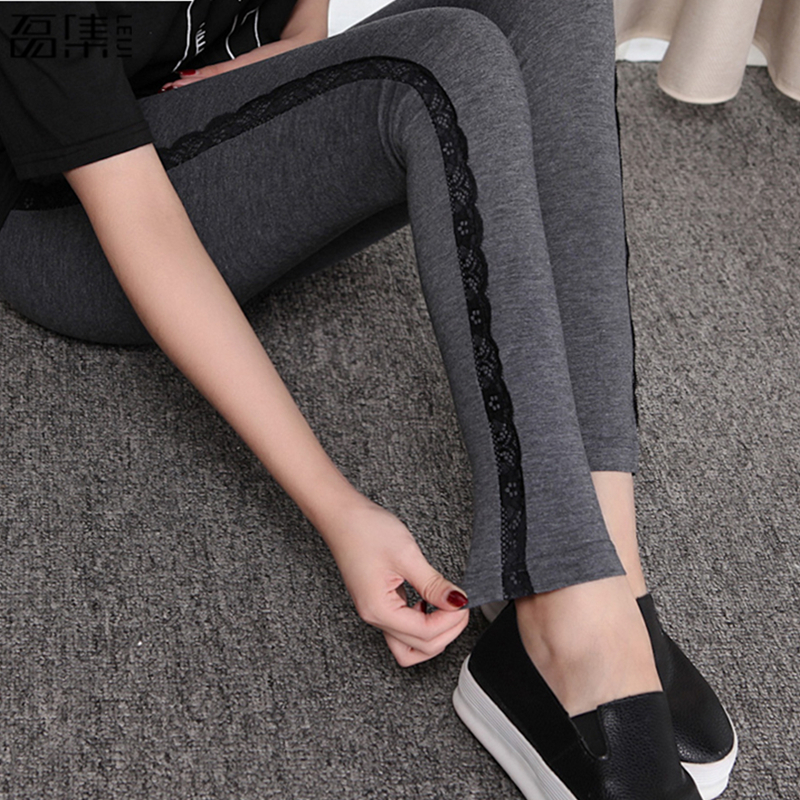 2018 spring High Elastic Women Pants   Leggings   Warm plus size Female Trousers 6XL