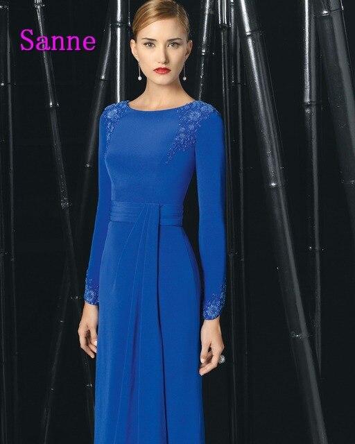 Vestidos de fiesta de noche azul electrico