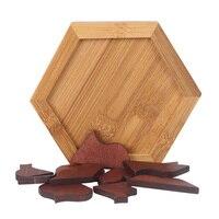 B Новый Candywood дерева в форме сердца Tangram доска для головоломки образования раннего обучения деревянные пазлы игры и игрушки для Для детей