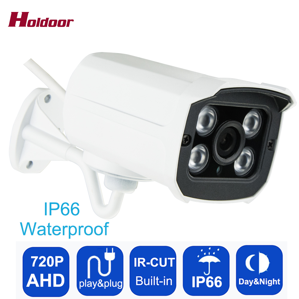 Holdoor AHD 720P 1.0MP Security Surveillance Camera Outdoor IP66 Waterproof CCTV 4 Array IR-CUT lights Night Vision CCTV Camera