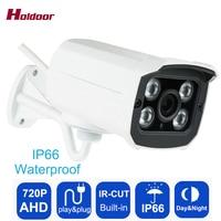 Holdoor AHD 720P 1 0MP Security Surveillance Camera Outdoor IP66 Waterproof CCTV 4 Array IR CUT