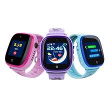 Atualizado DF25 Dupla Câmera GPS Relógio Inteligente Tela de Toque À Prova D' Água Crianças Relógio Cartão SIM Apoio SOS Chamada Bebê Crianças Relógio de Pulso