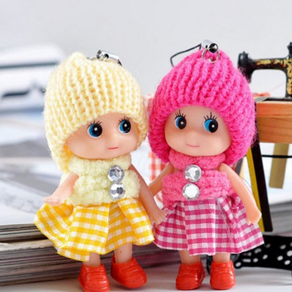 1PCS NEW Kids Toys Soft Interactive Baby Dolls Toy Mini Doll For Girls 8 CM