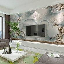 цена на 3Dwallpaper TV background wallpaper wallpaper bedroom living room 3D stereoscopic circle backdrop mural papel de parede