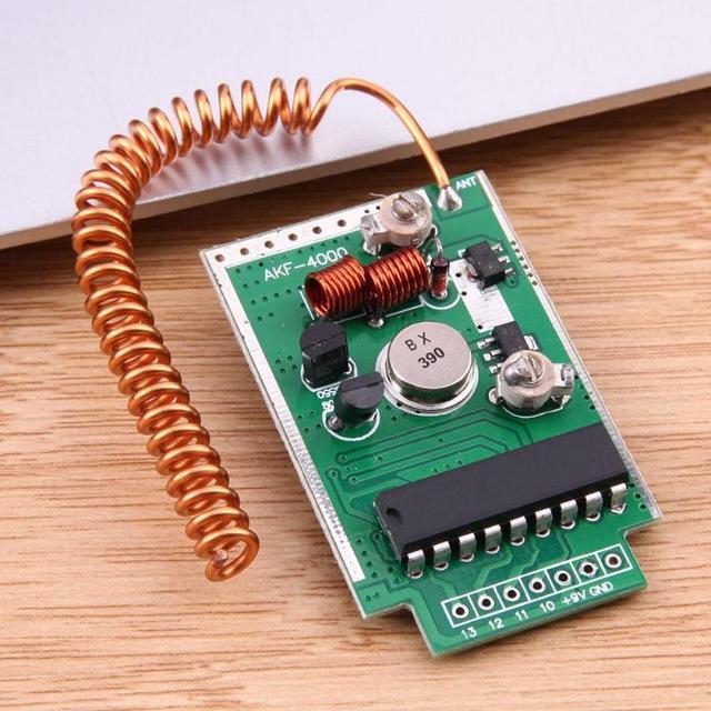 1/2/3pcs 390MHz DC9V 4000m RF Remote Wireless Transmitter Module Large Power 4km Long Distance PCB Board Launcher Receiver Kit