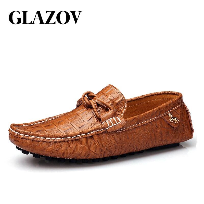 Comprar Los Zapatos de los hombres de los mocasines mocasín de cuero de  cocodrilo estilo calzado Slip On Flat conducción Zapatos de barco clásica  hombre ... ec478203f272