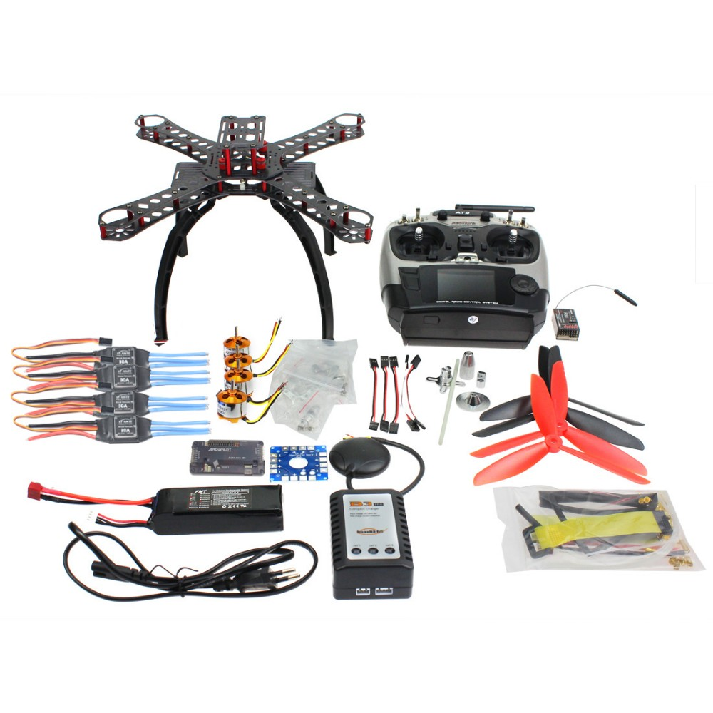 F14891 C font b RC b font Carbon Fiber Frame Multicopter Full Kit DIY GPS Drone