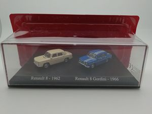 UH 1:87 Re nault 8 1962 Re nault 8 Gordini 1966 alloy toy car toys for children diecast model car Birthday gift freeshipping(China)