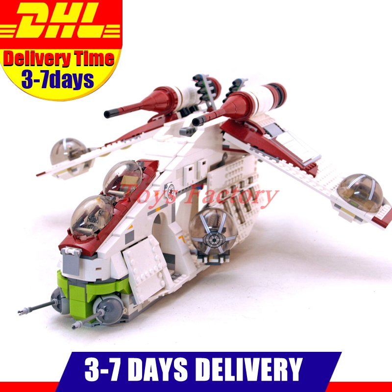 2018 New LEPIN 05041 1175Pcs Star War Republic Gunship Model Building Kits Set Blocks Bricks Compatible Toys Gift 75021