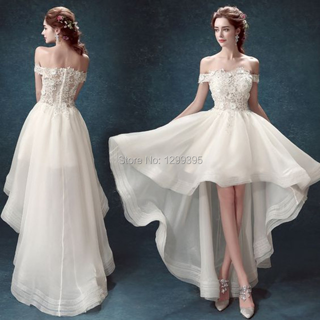 Wedding Dress Short Front Long Back Country Western Wedding Dresses
