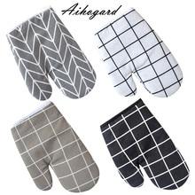 Новые хлопковые перчатки для духовки, термостойкие рукавицы для микроволновой печи, кухонные перчатки для приготовления пищи, Утепленные перчатки Microondas, Нескользящие перчатки BTZ1