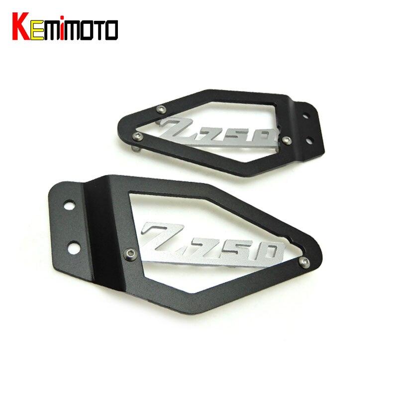 Z750 kemimoto pie de peg talón placas protector para kawasaki z750 z 750 2007-20