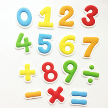 Early education 0-9 Numbers Fridge Magnet Cartoon Arabic Numerals Magnetic Sticker Baby Kids Fun Educational Toy Wooden Gift цена