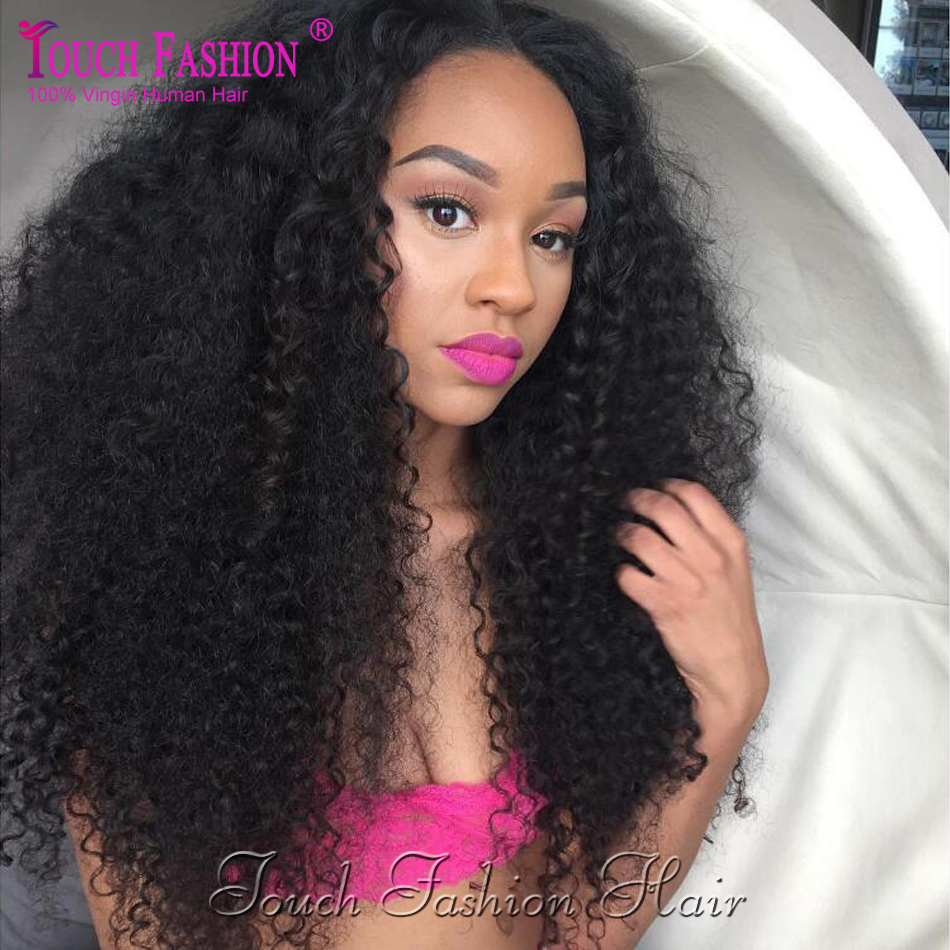 200 Density 100 Brazilian Kinky Curly Lace Front Wig