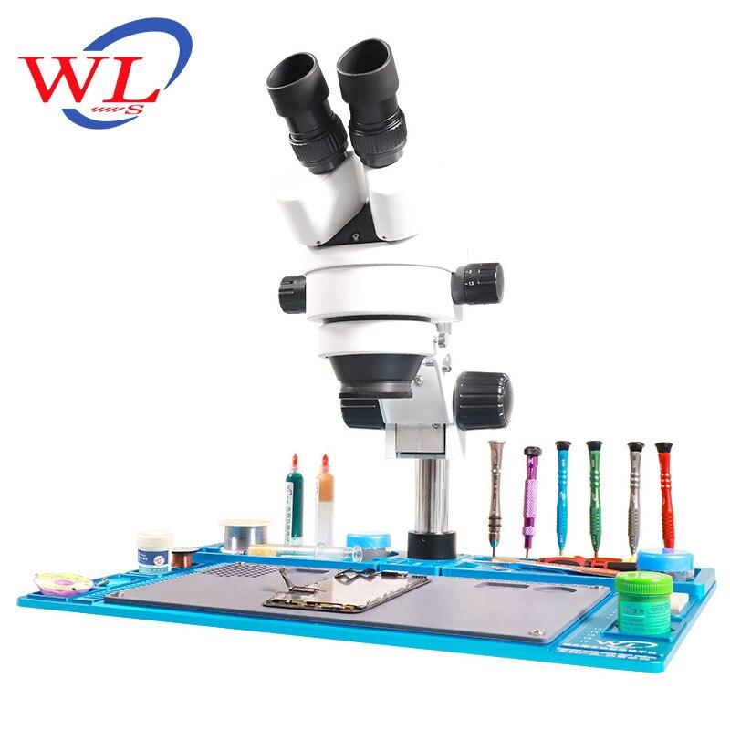 WL In Lega di Alluminio Pad Multi funzione di Riparazione Pad Microscopio Piattaforma di Manutenzione di Riparazione Del Telefono Mobile di Base + Solo Pad - 6