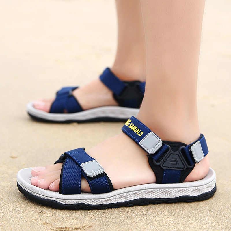Mode Man Strand Sandalen 2018 Zomer Gladiator mannen Outdoor Schoenen romeinse Mannen Casual Schoen Slippers Grote Maat 44 slippers platte
