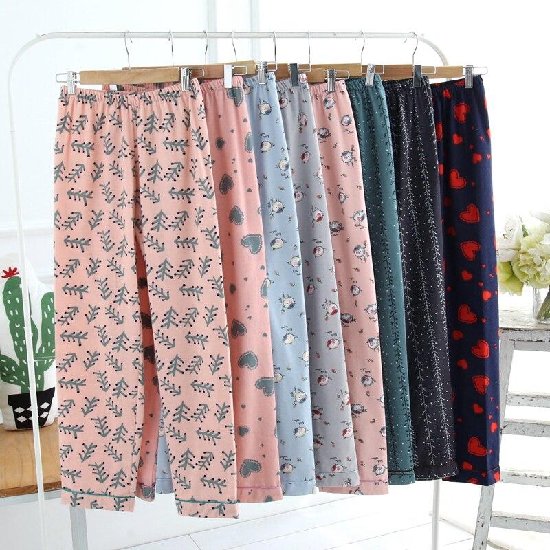 Брюки для сна, женские бархатные флисовые штаны для отдыха, хлопковые Фланелевые брюки, теплые женские штаны для сна