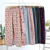 Sleep Trousers Women Velvet Fleece Lounge Pants COTTON Flannel Trousers Warm Women Sleep Bottoms