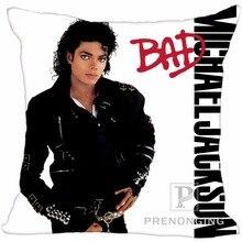 Заказная декоративная наволочка Майкл Джексон квадратная Наволочка на молнии лучший подарок(с одной стороны) 180117#111
