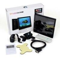 Free Shipping Portable 3 In 1 8 TFT LCD Color TV AV VGA Input Monitor CCTV
